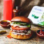 Hamburger with Alouette Smoky Jalapeno