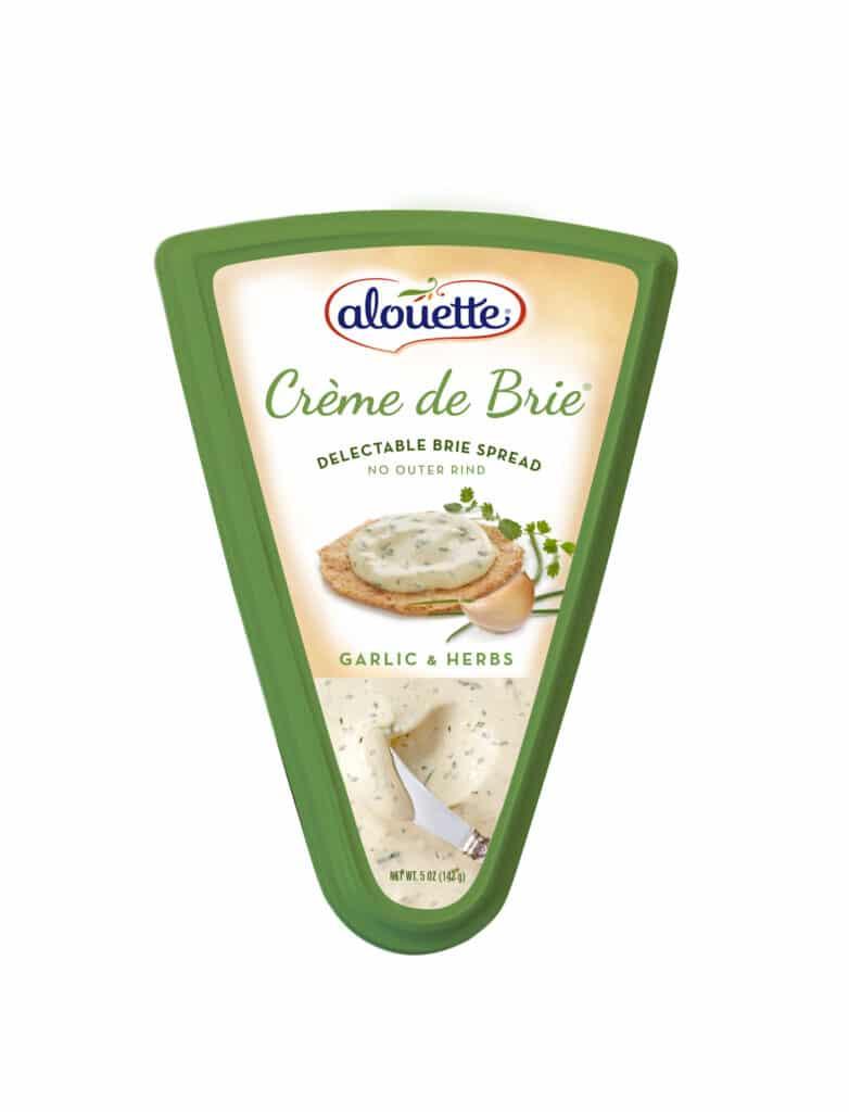 Alouette Crème de Brie Garlic & herbs packaging