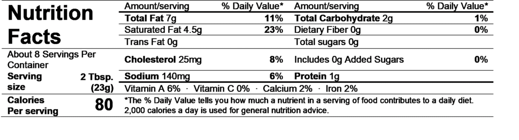 alouette garlic & herbs spread nutrition facts