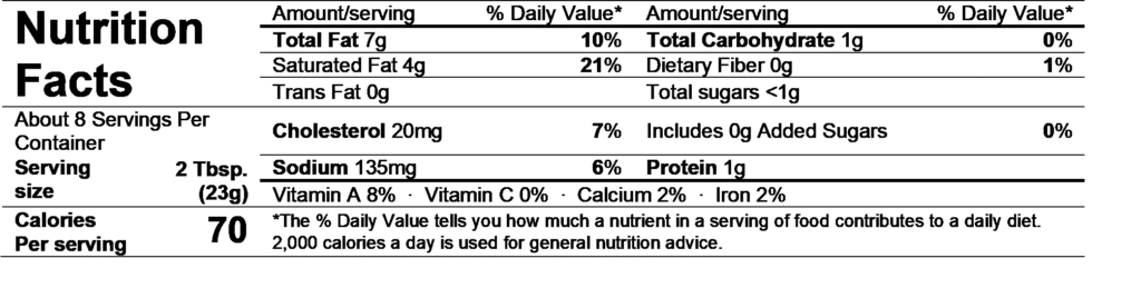 alouette spinach & artichoke spread nutrition facts
