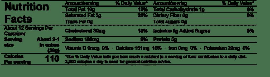 ile de france baby brie nutrition facts