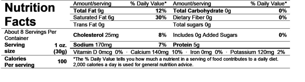 ile de france brie nutrition facts