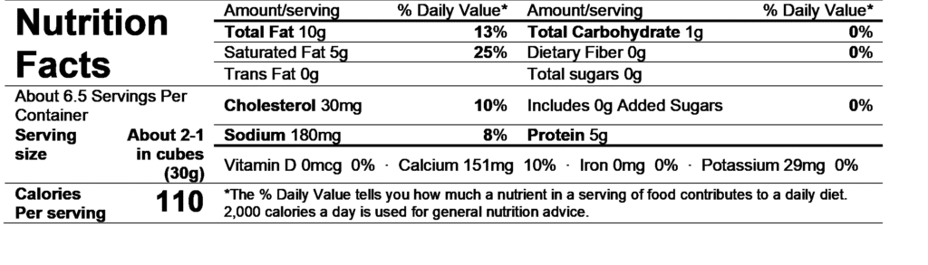 dorothy comeback cow nutrition facts