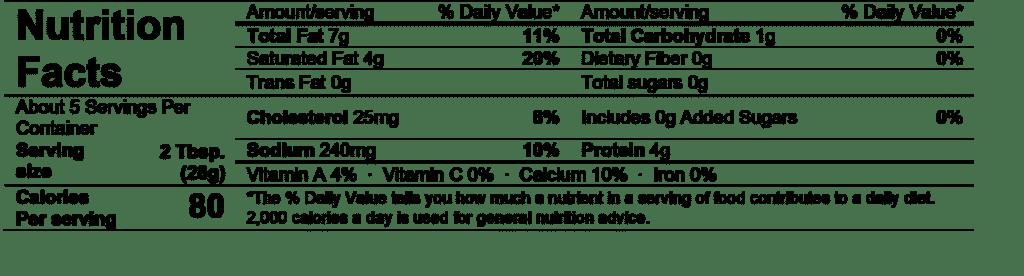 alouette crème de brie garlic & herbs nutrition facts