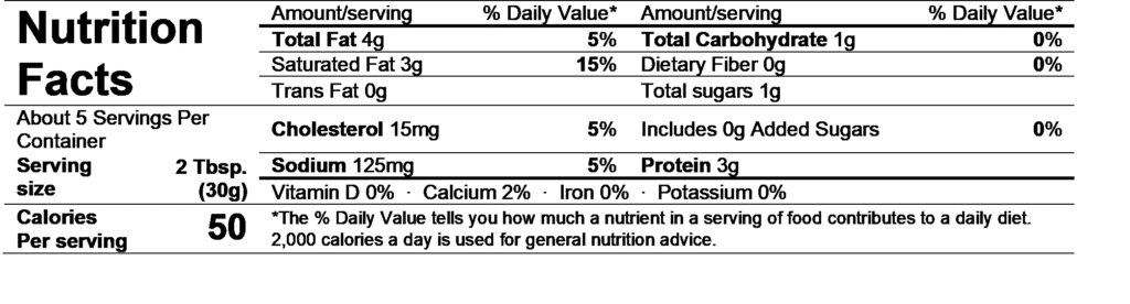 chavrie goat cheese pyramid nutrition facts