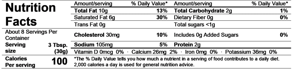 smithfield whipped cream cheese nutrition facts