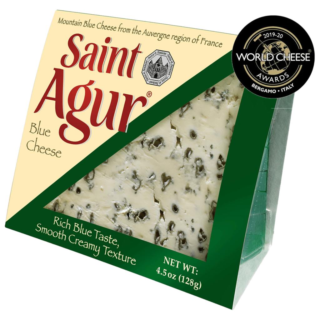 saint agur blue cheese packaging medal