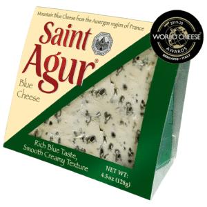 saint agur blue cheese packaging