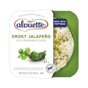 Alouette Smoky Jalapeno soft spreadable cheese packaging