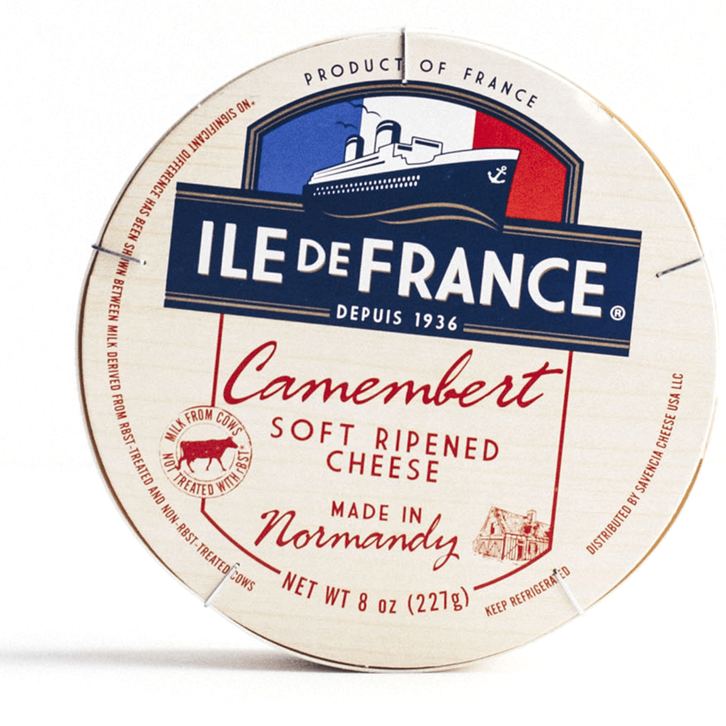 ile de france camembert packaging