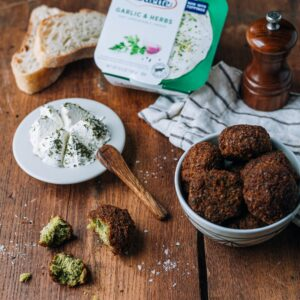 crispy falafel with alouette garlic and herbs