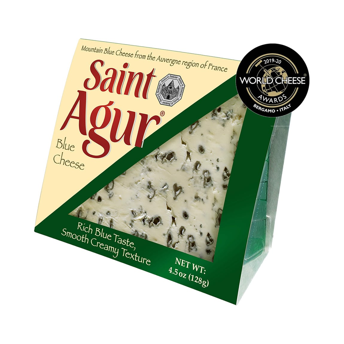 Saint Agur Blue Cheese packaging