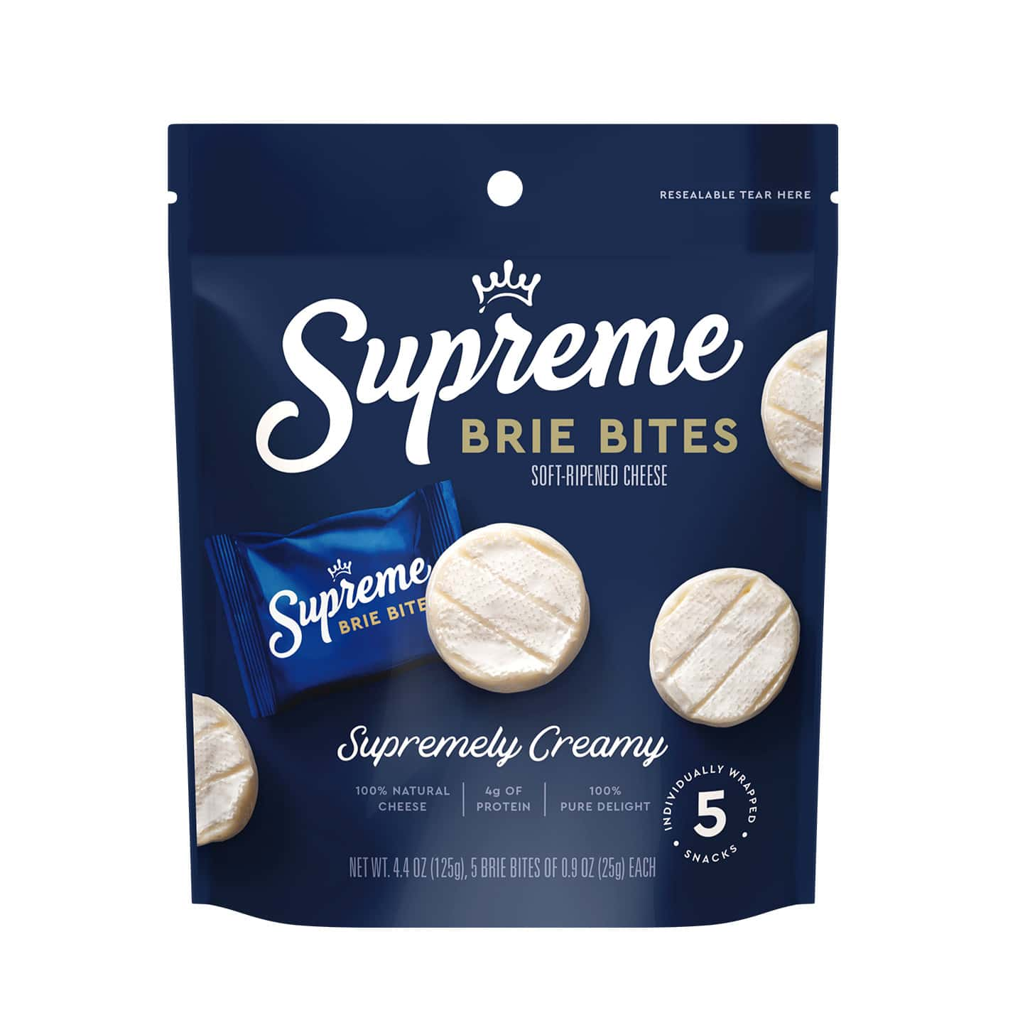 supreme brie bites packaging