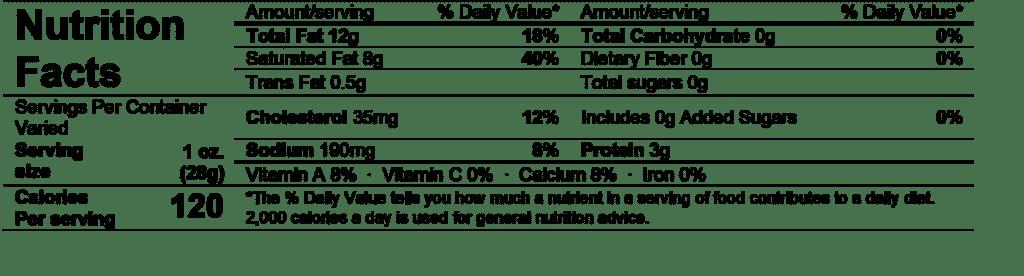 saint andré heavenly triple crème nutrition facts
