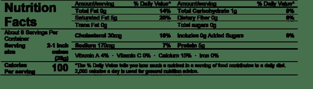 alouette double crème brie 8oz nutrition facts