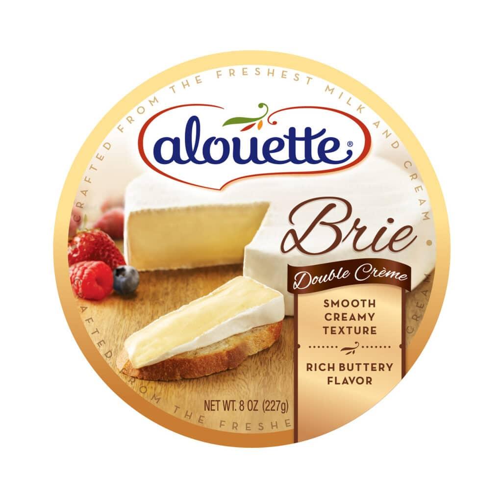 Alouette Brie Double crème 8oz packaging