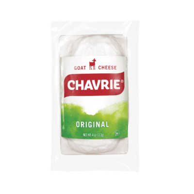 chavrie original goat cheese log packaging