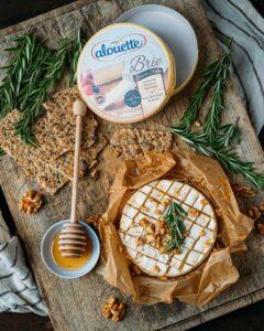 Alouette brie double crème honey and nuts