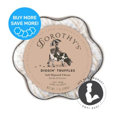 Dorothy's Diggin Truffles Soft Ripened cheese packaging sofi award