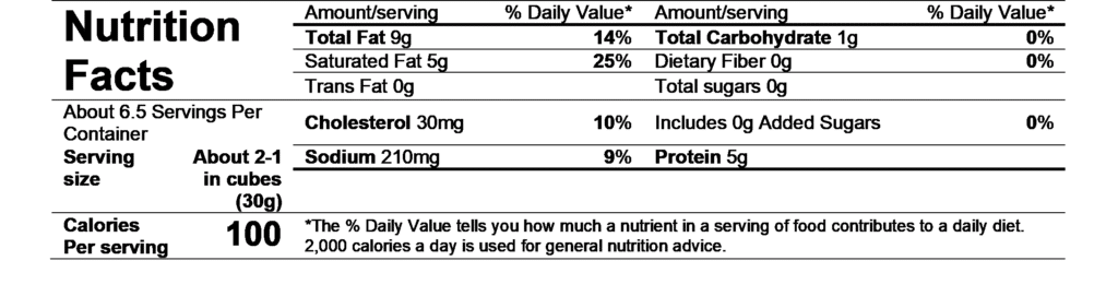 nutritional facts dorothy's diggin truffles