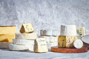 Market stall family picture cheese