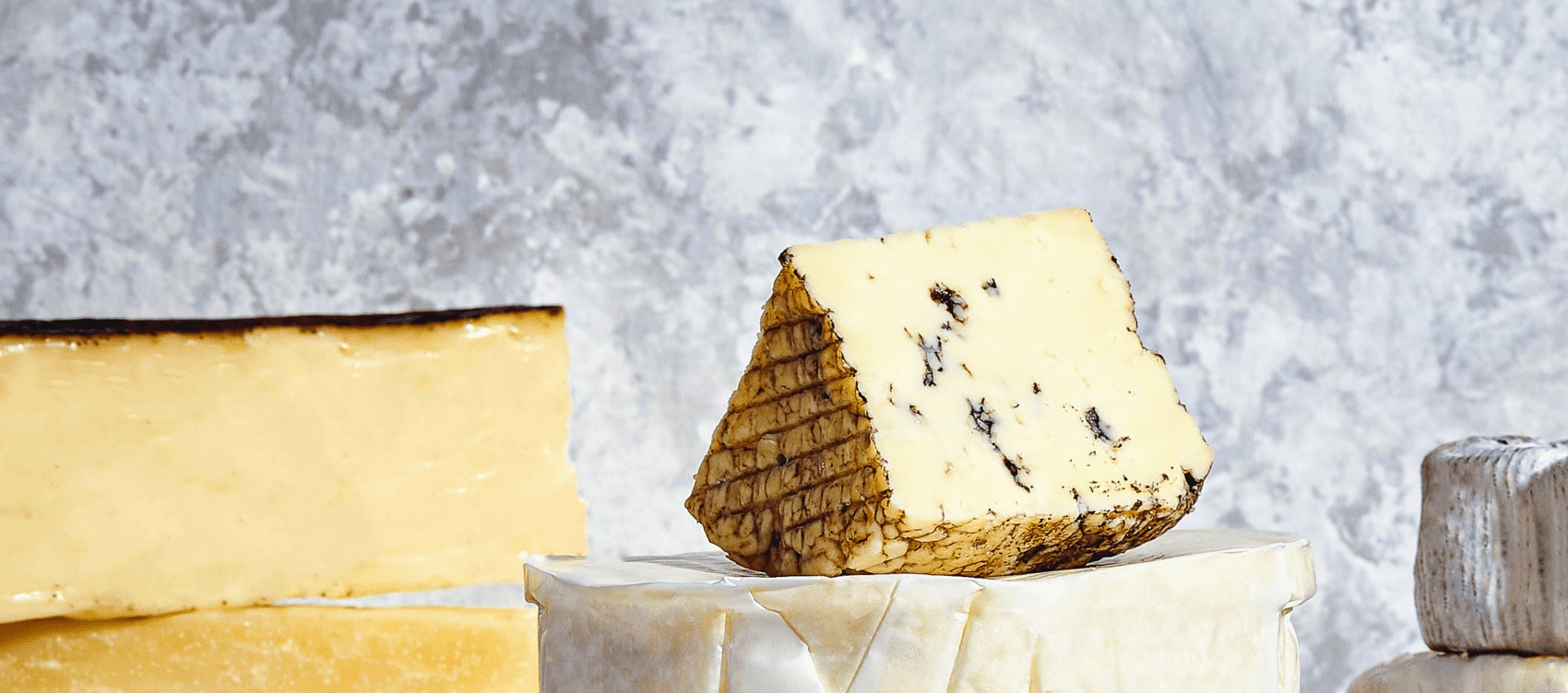 Market stall cheeses